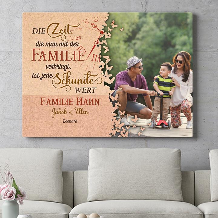 Personalisierbares Geschenk Zeit der Familie