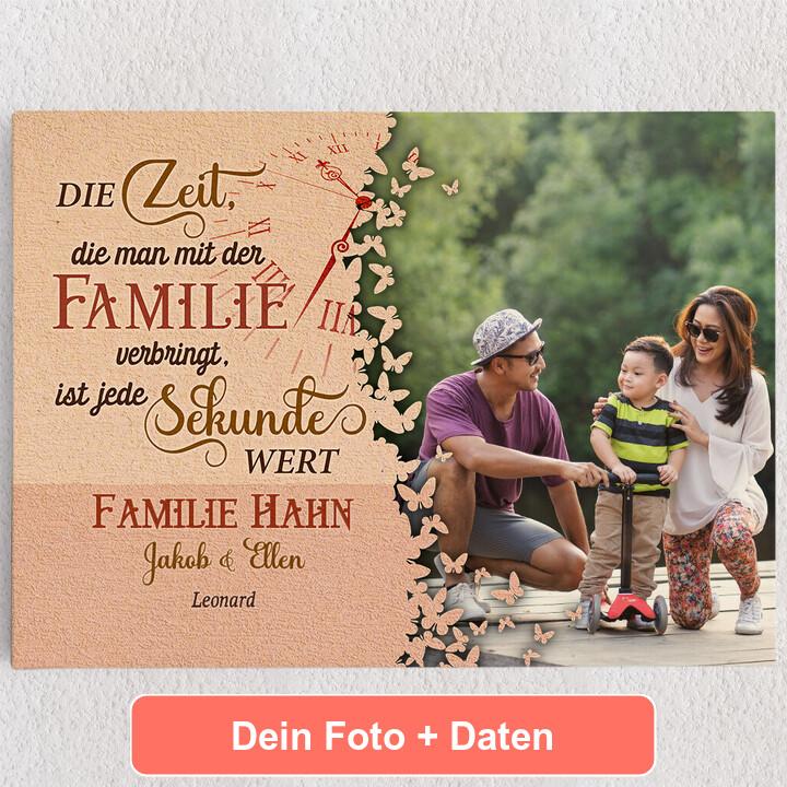 Personalisiertes Leinwandbild Zeit der Familie