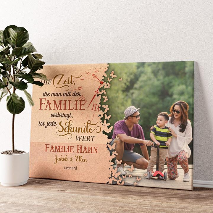 Zeit der Familie Wandbild personalisiert