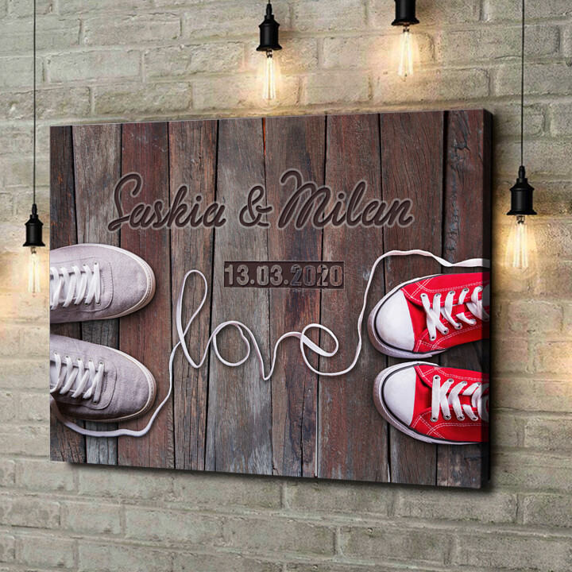 Leinwandbild personalisiert Sneaker