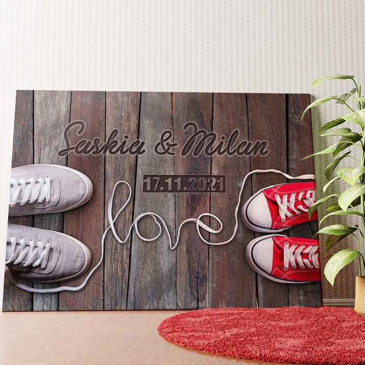 Personalisiertes Wandbild Sneaker