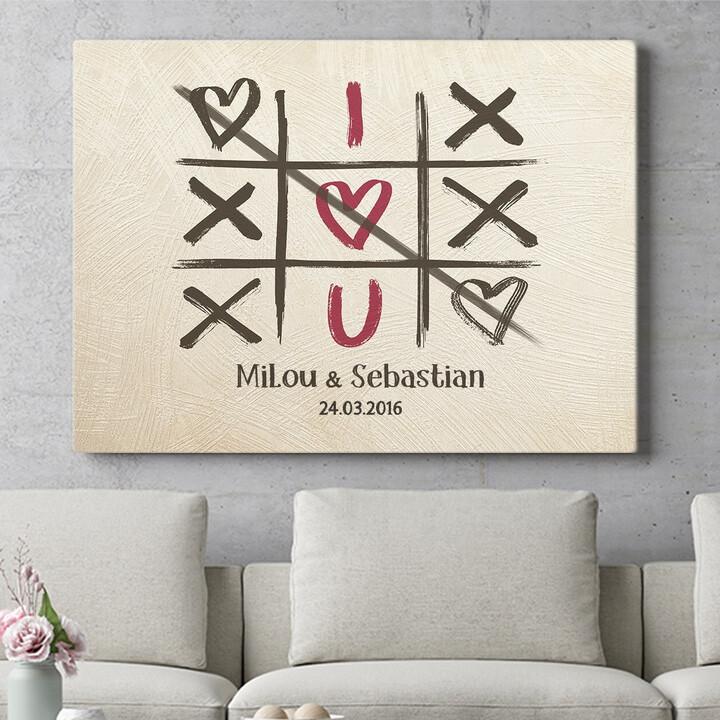 Personalisierbares Geschenk I Love U