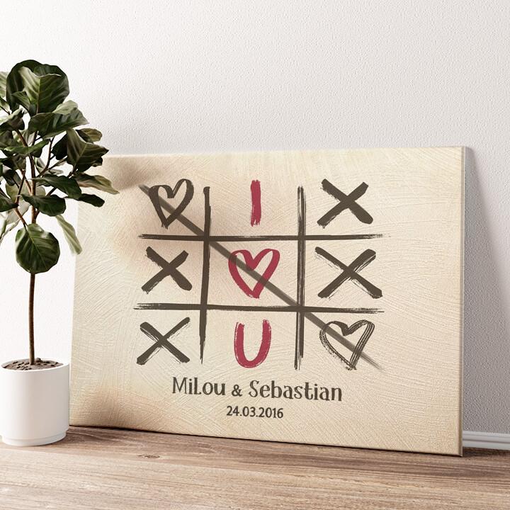 I Love U Wandbild personalisiert
