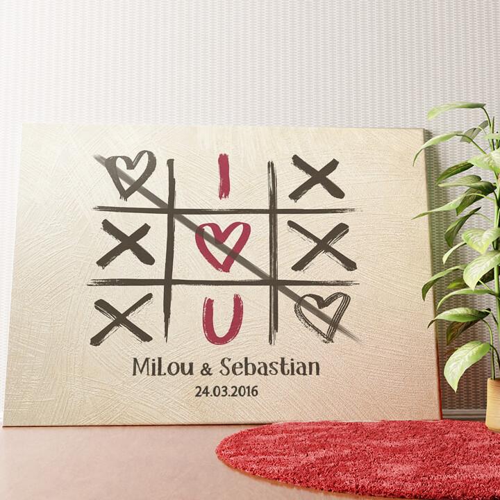 Personalisiertes Wandbild I Love U