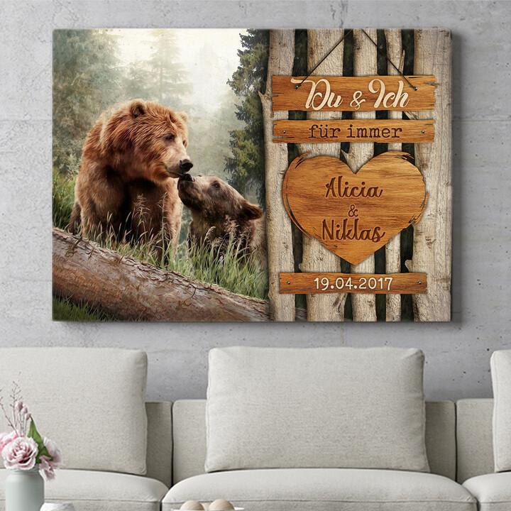 Personalisierbares Geschenk Bärenliebe