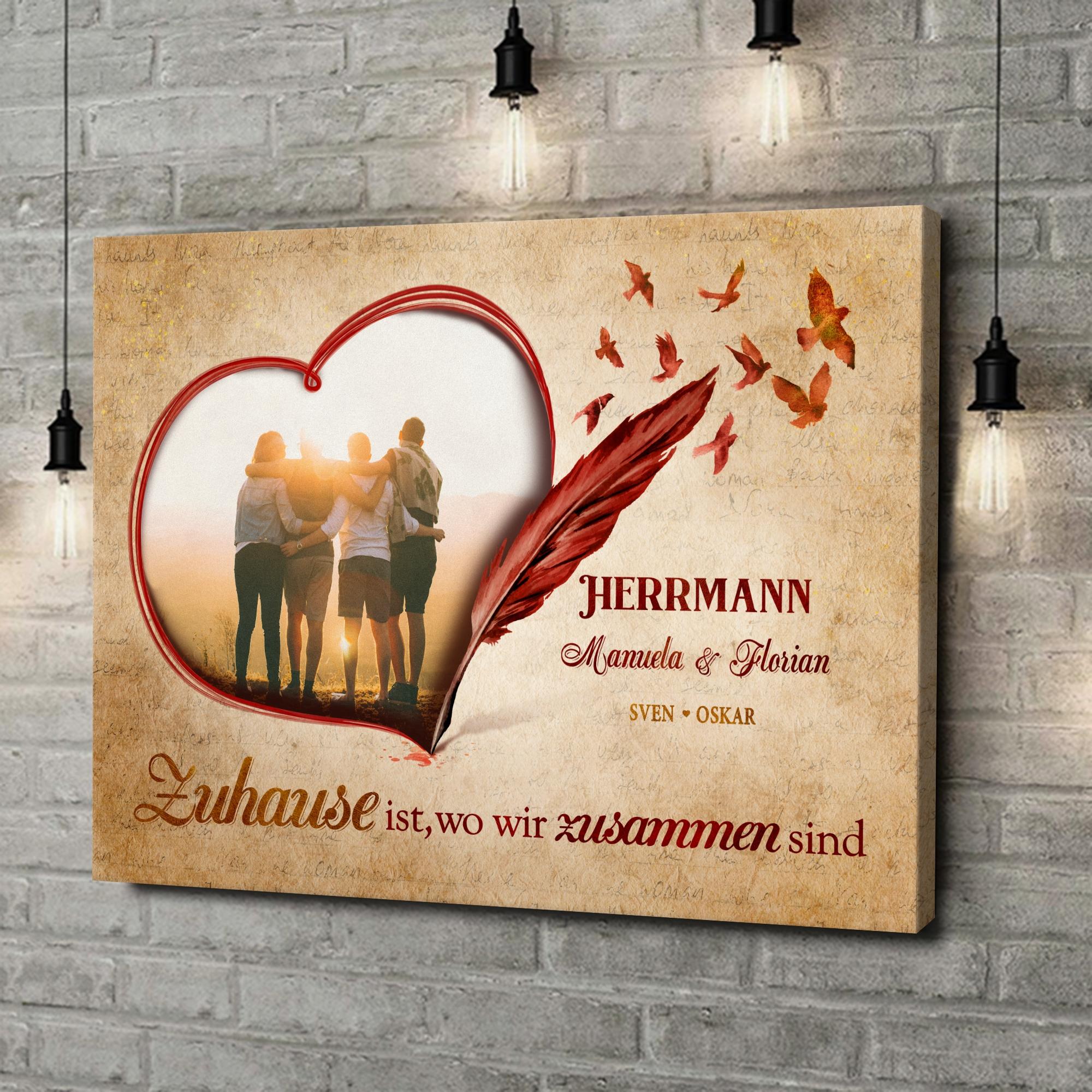 Leinwandbild personalisiert Familiengeschichte