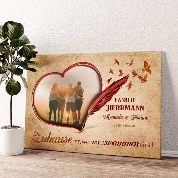 Familiengeschichte Wandbild personalisiert