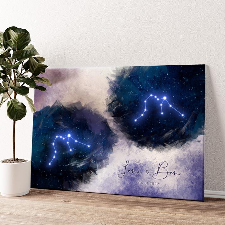 Zeichen des Himmels Wandbild personalisiert