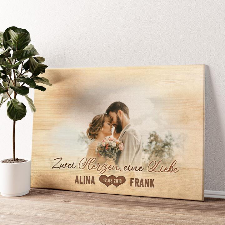 Herzensangelegenheit Wandbild personalisiert