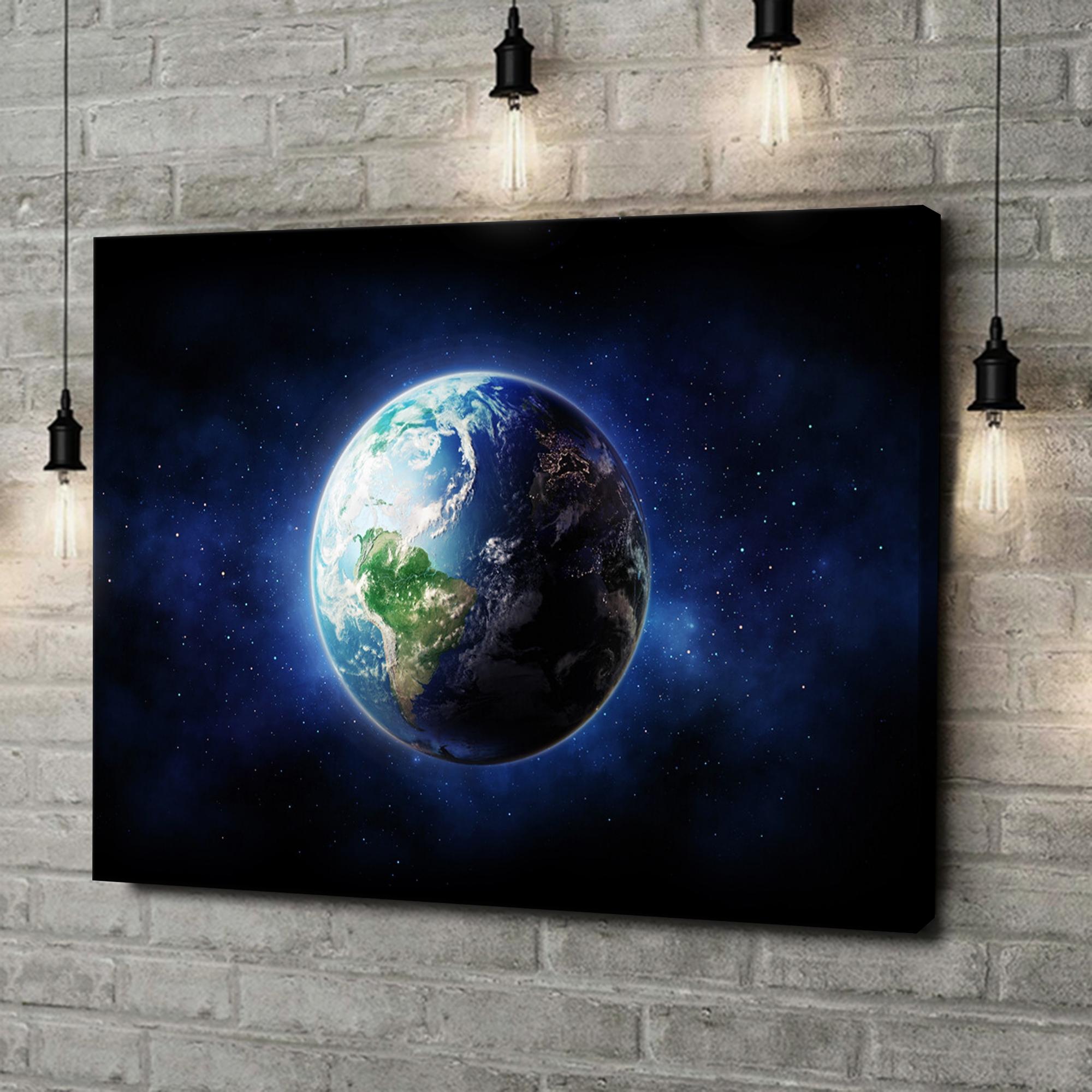 Leinwandbild personalisiert Erde
