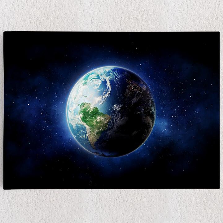 Personalisiertes Leinwandbild Erde