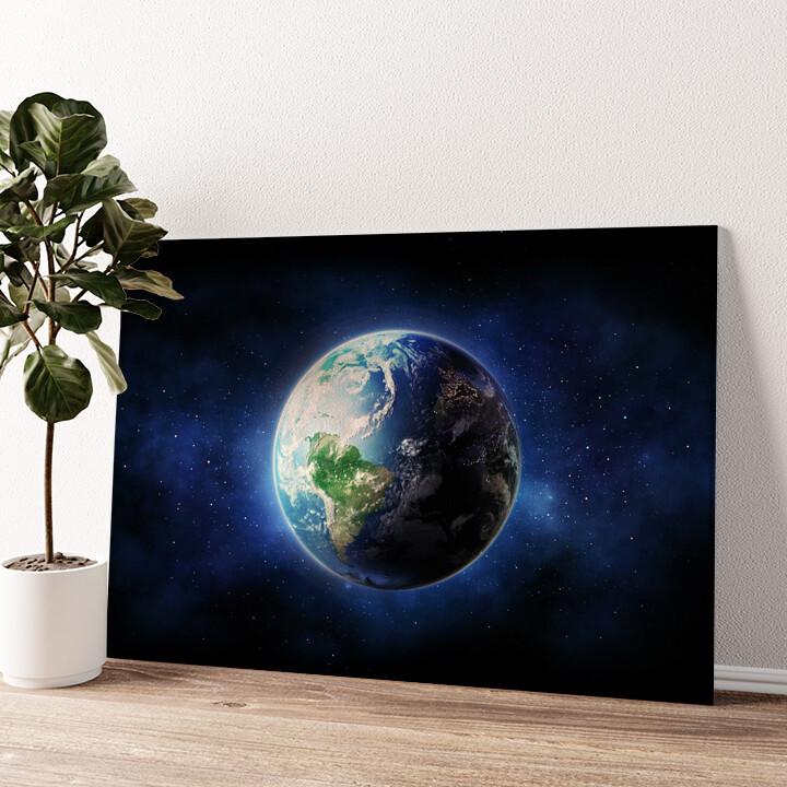 Erde Wandbild personalisiert