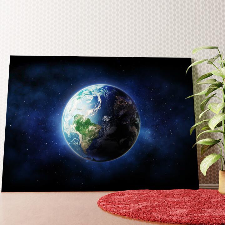Personalisiertes Wandbild Erde