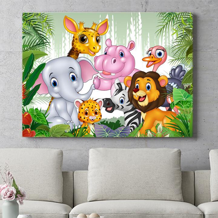 Personalisierbares Geschenk Cartoon Baby Tiere