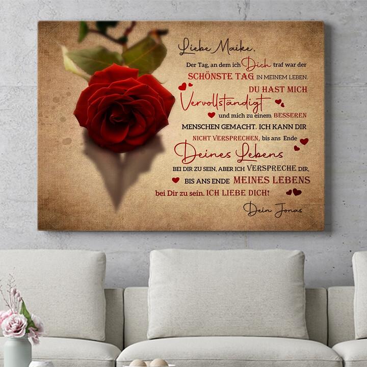 Personalisierbares Geschenk Verliebt in Dich