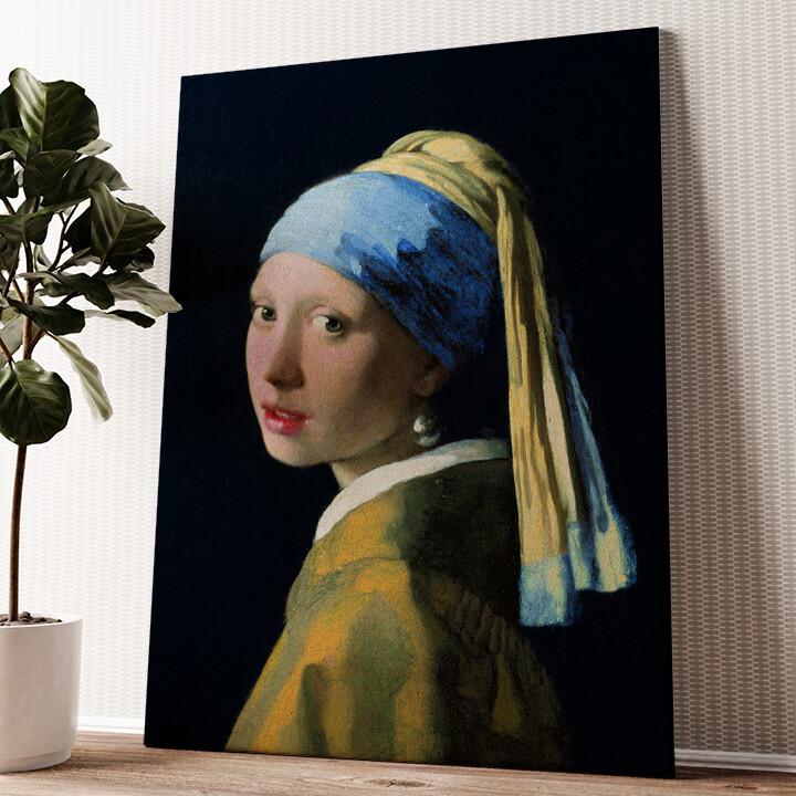 Mädchen mit dem Perlenohrring Wandbild personalisiert