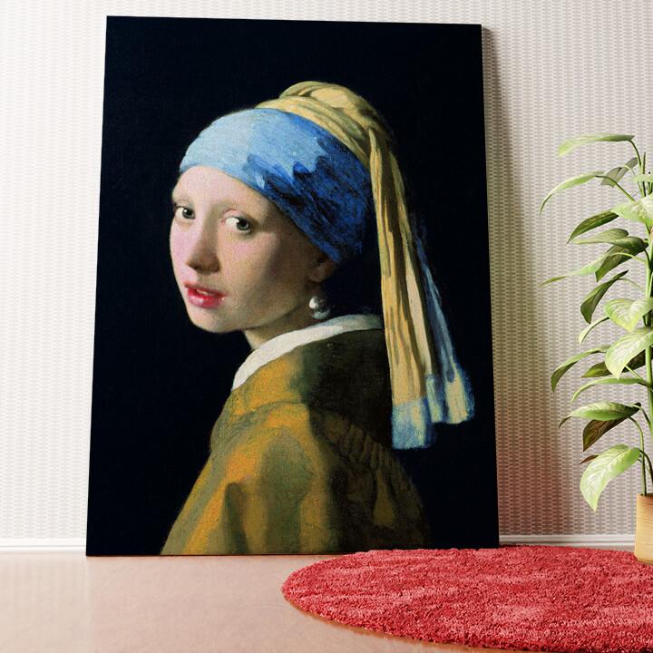 Personalisiertes Wandbild Mädchen mit dem Perlenohrring