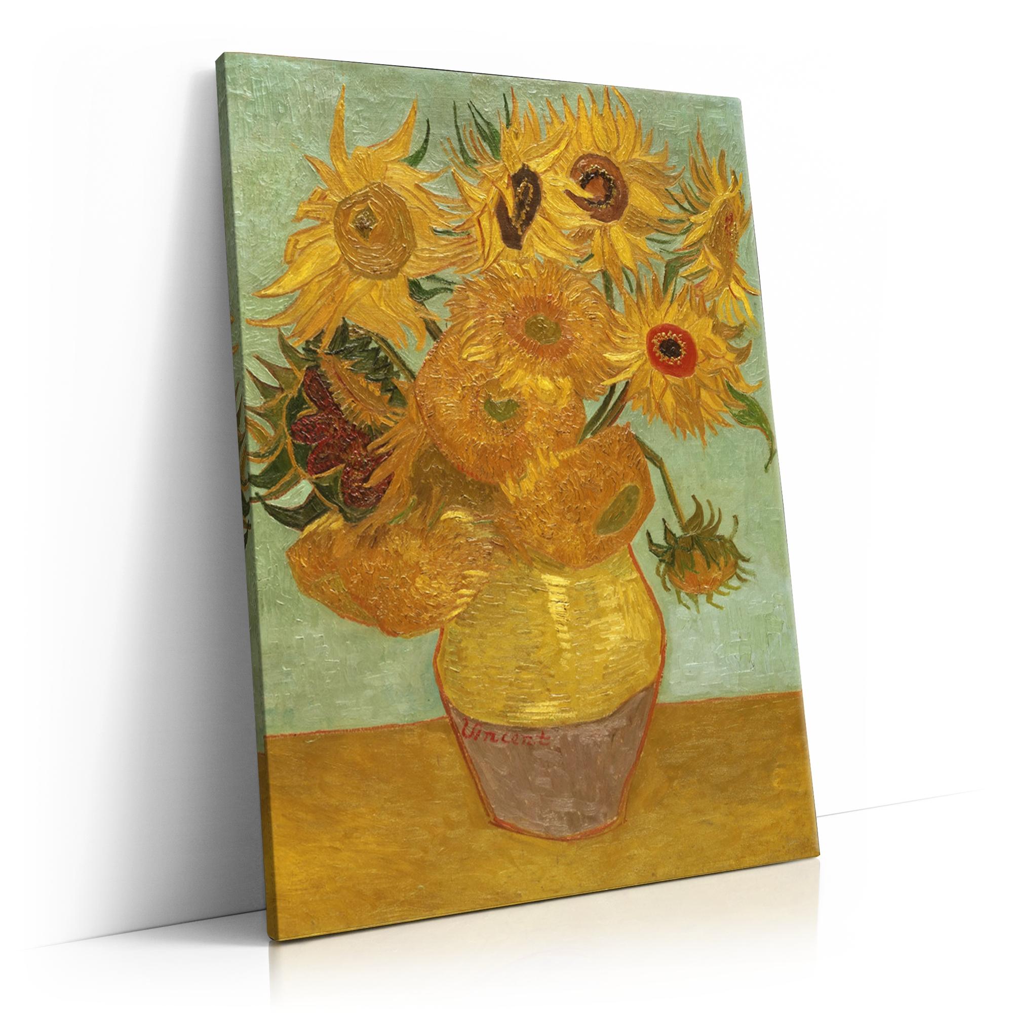Vase mit Sonnenblumen