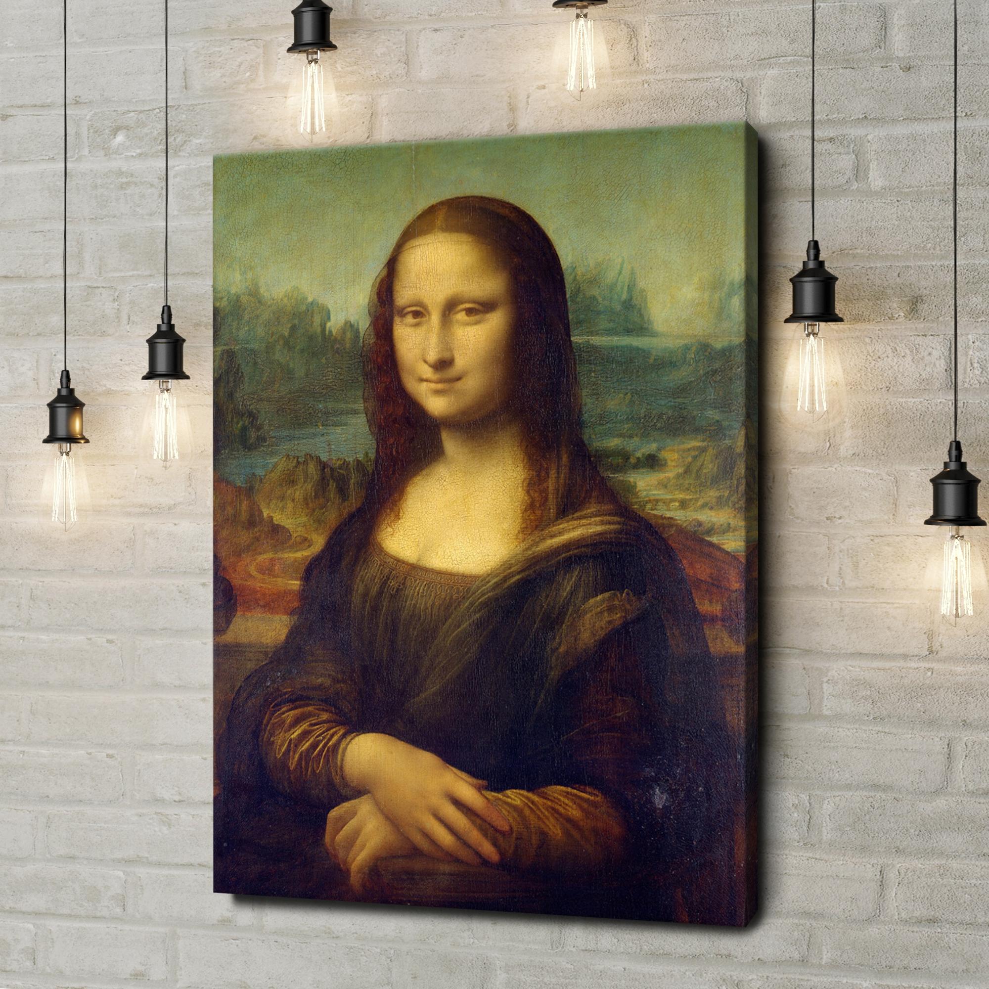 Leinwandbild personalisiert Mona Lisa