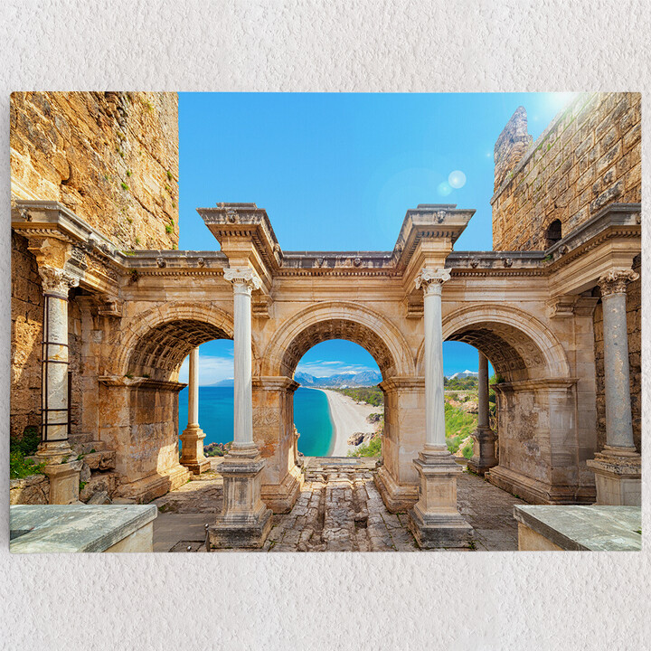Personalisiertes Leinwandbild Hadrian Tor Antalya