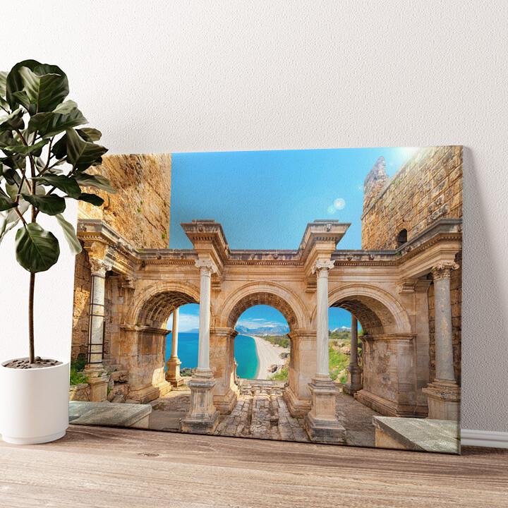 Hadrian Tor Antalya Wandbild personalisiert