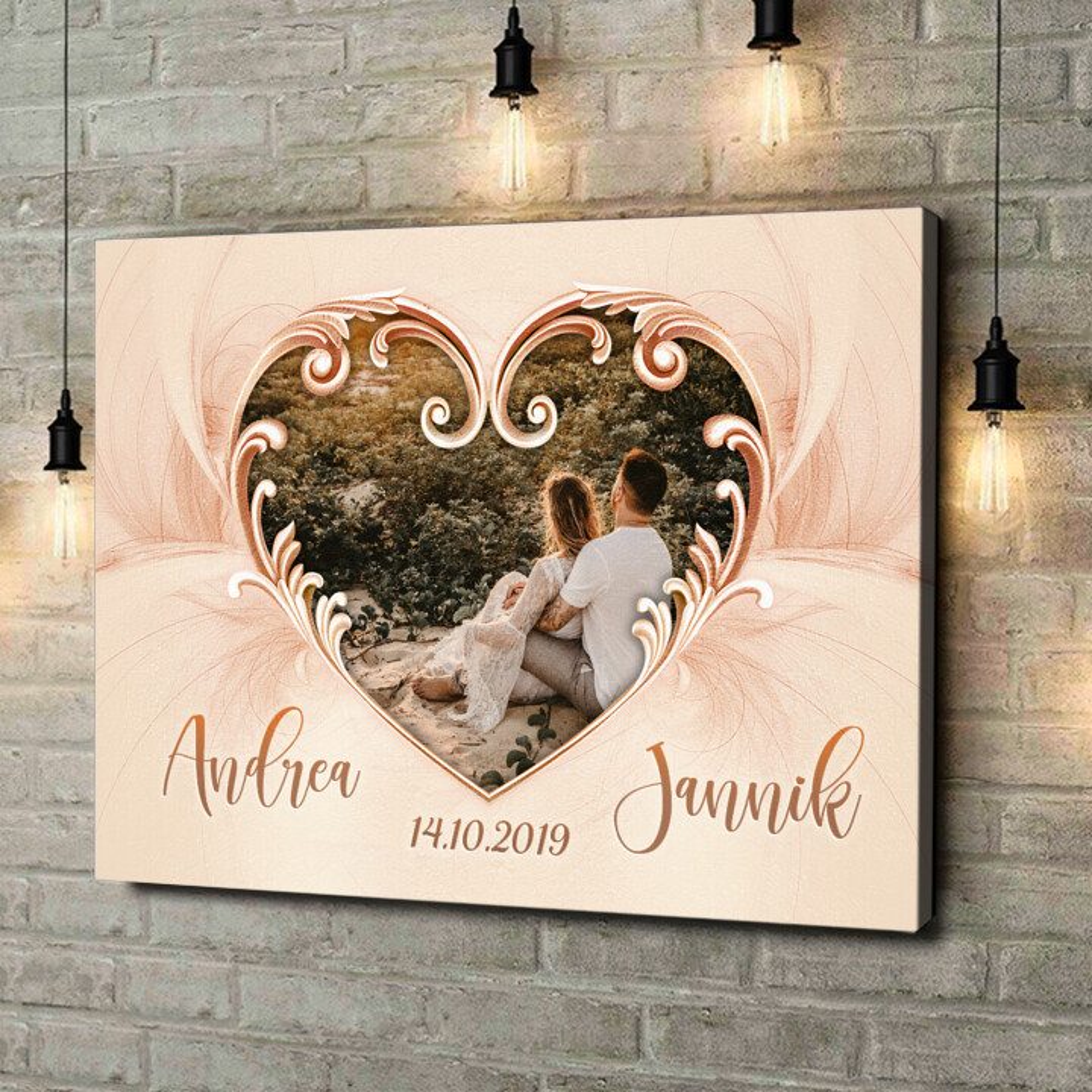 Leinwandbild personalisiert Segen der Liebe