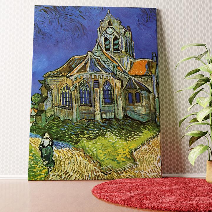 Personalisiertes Wandbild Die Kirche von Auvers
