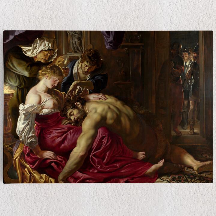 Personalisiertes Leinwandbild Samson und Delilah