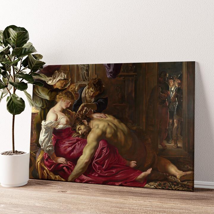 Samson und Delilah Wandbild personalisiert