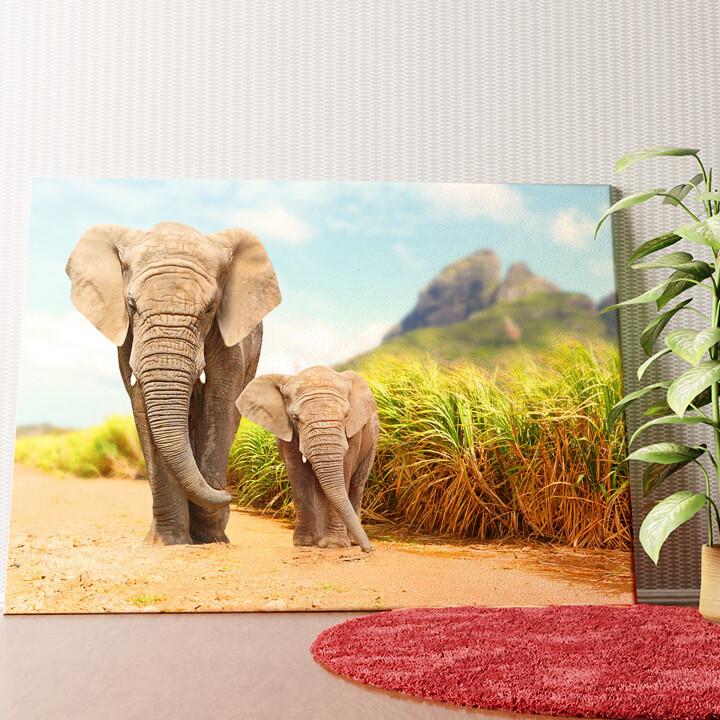 Personalisiertes Wandbild Elefanten in Afrika