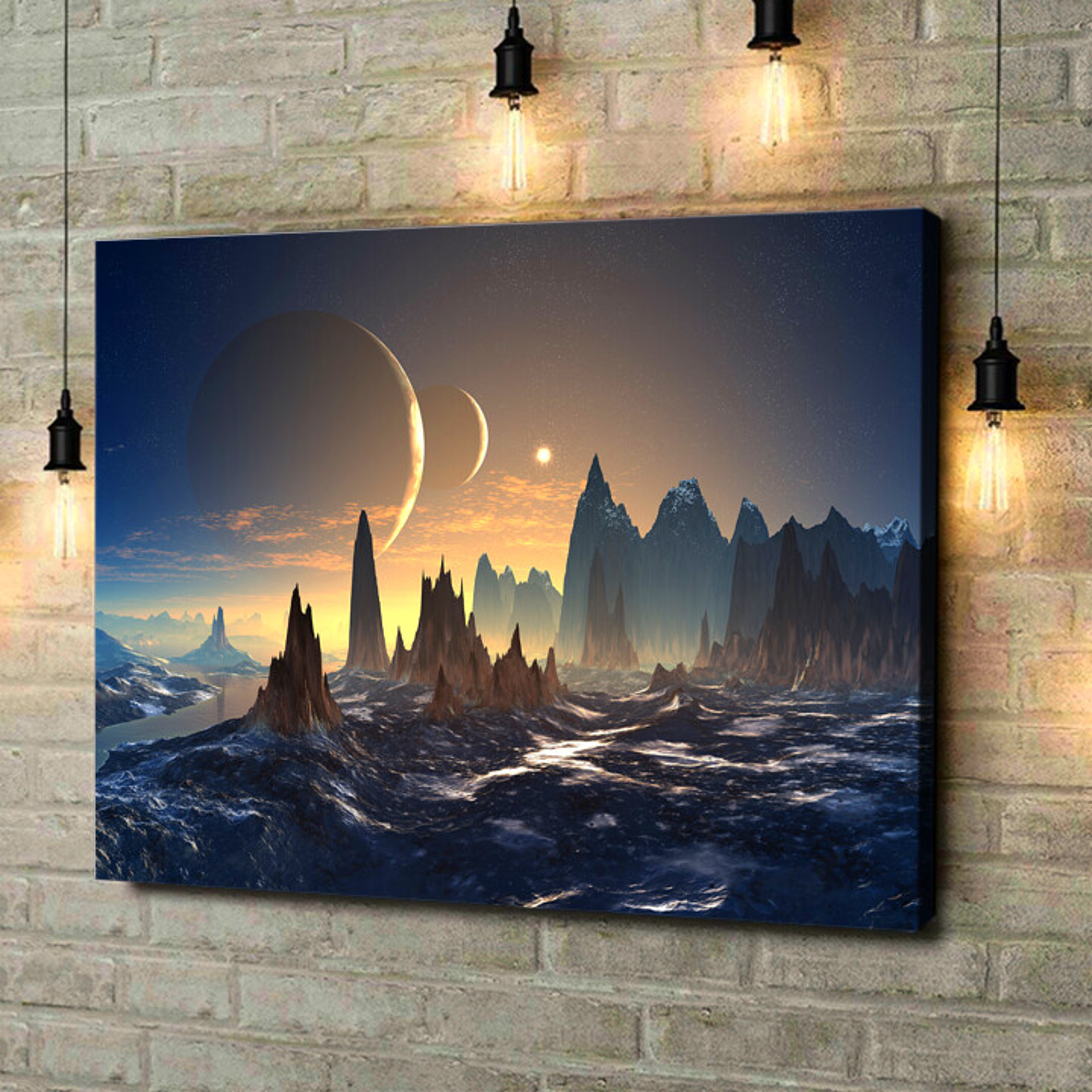 Leinwandbild personalisiert Fantasy Alien Planet