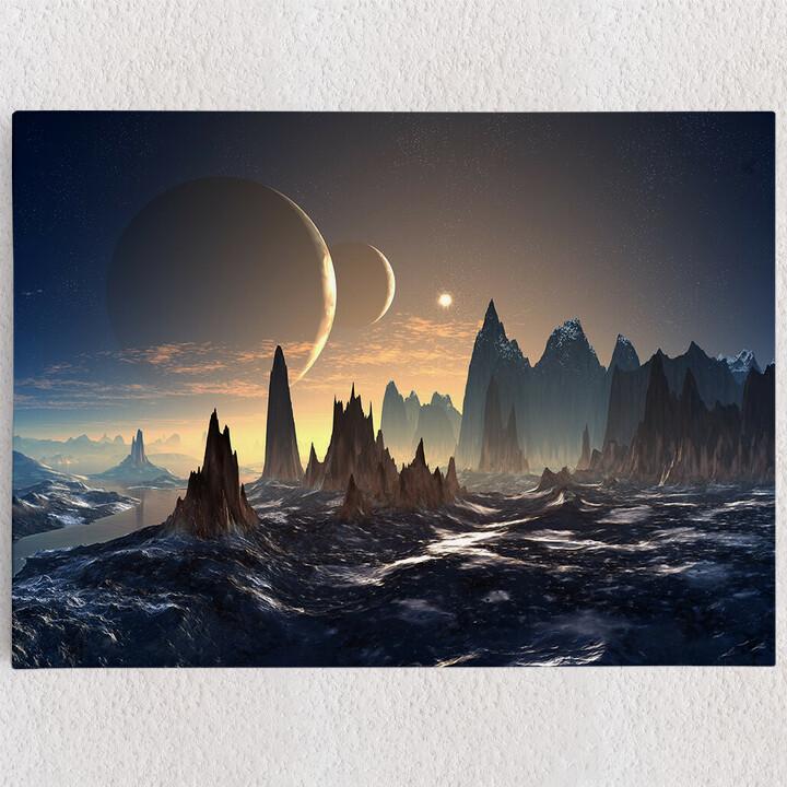 Personalisiertes Leinwandbild Fantasy Alien Planet