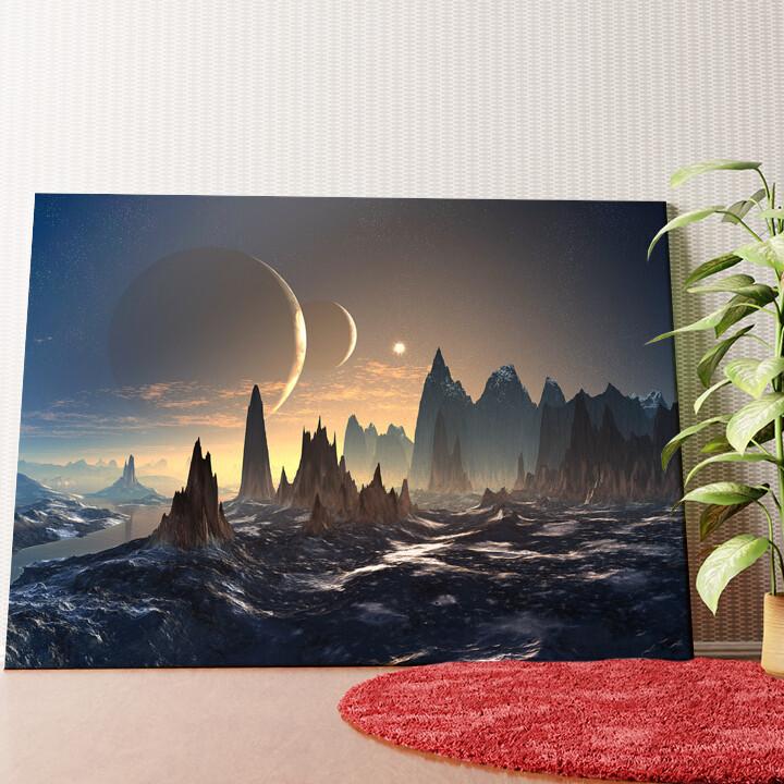 Personalisiertes Wandbild Fantasy Alien Planet