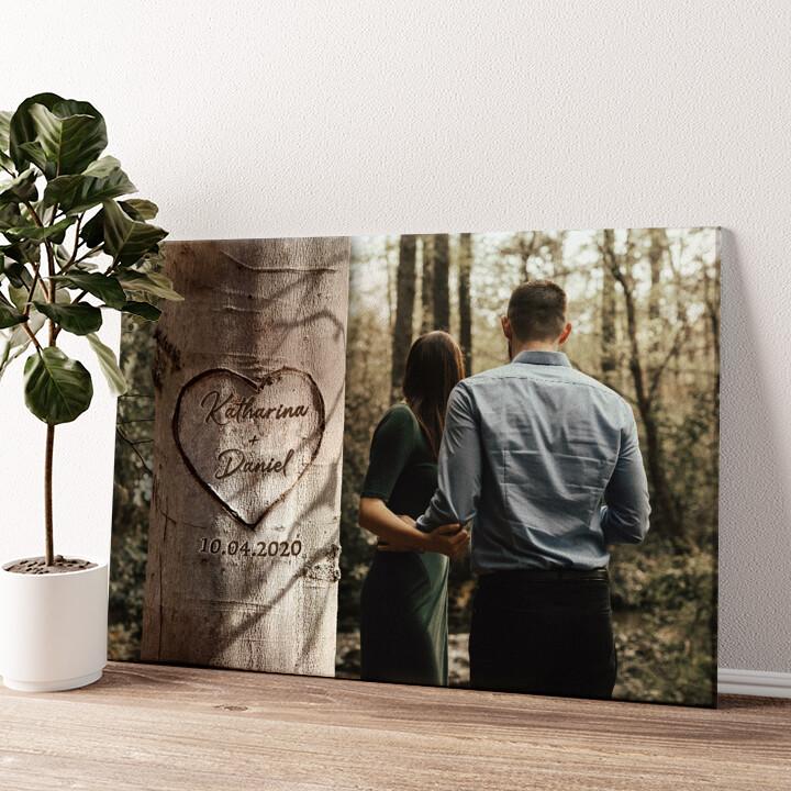 Herzbaum Wandbild personalisiert