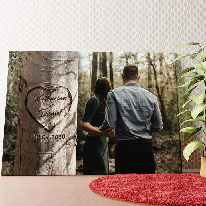 Personalisiertes Wandbild Herzbaum