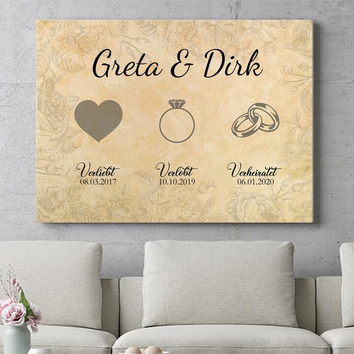 Personalisierbares Geschenk Verliebt Verlobt Verheiratet