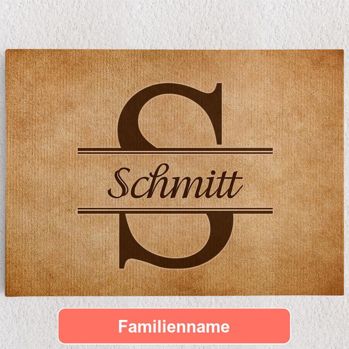 Personalisiertes Leinwandbild Initiale der Familie