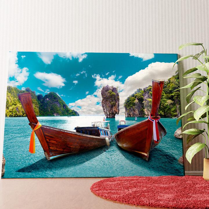 Personalisiertes Wandbild Boote vor Phuket - Thailand