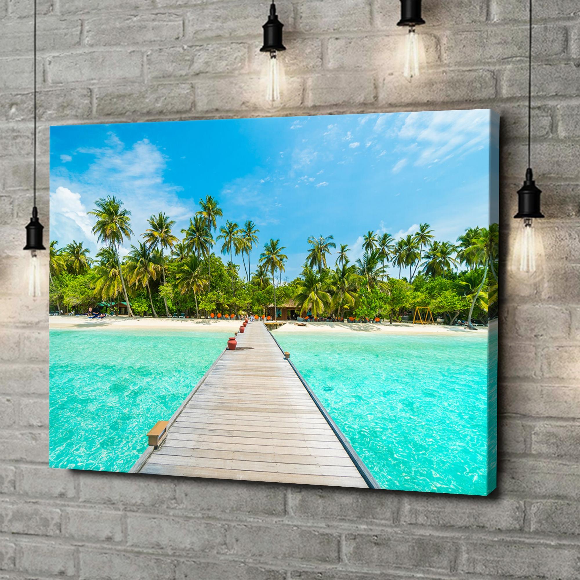 Leinwandbild personalisiert Malediven Steg