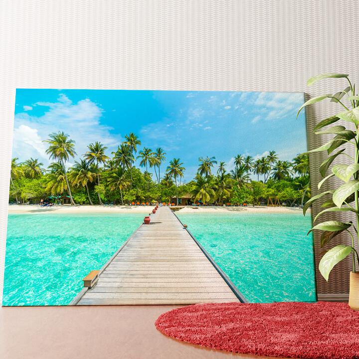 Personalisiertes Wandbild Malediven Steg