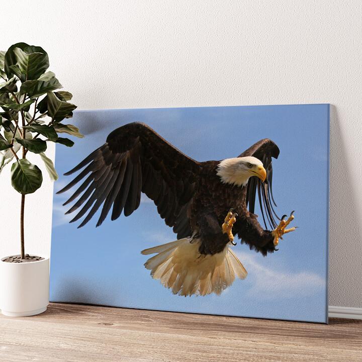 Adler Wandbild personalisiert
