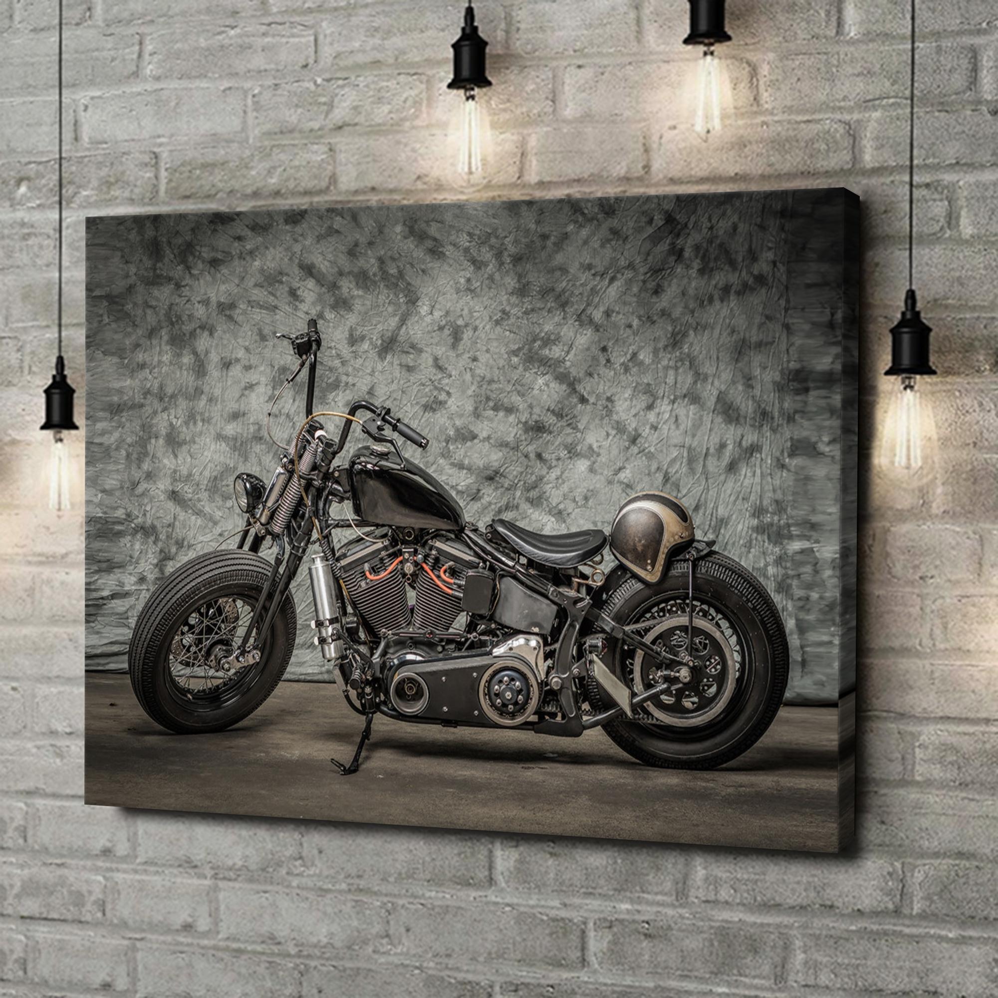 Leinwandbild personalisiert Chopper Bike
