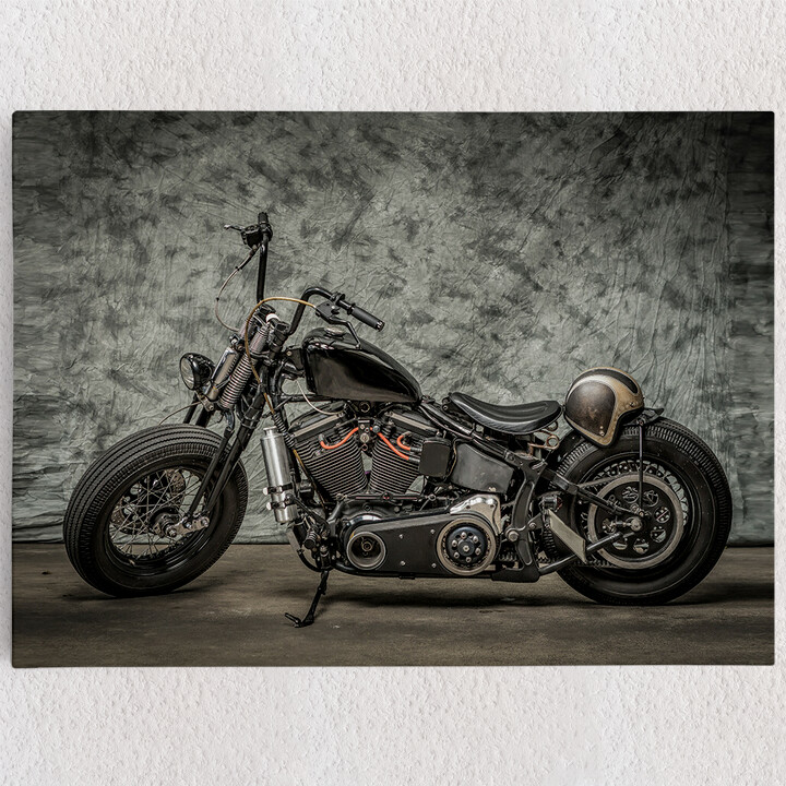 Personalisiertes Leinwandbild Chopper Bike