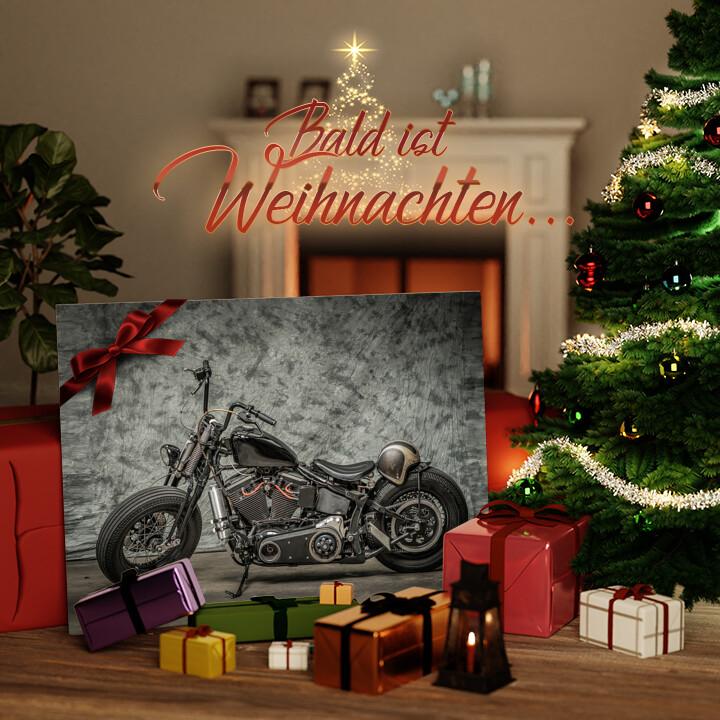 Liebesleinwand zu Weichnachten Chopper Bike