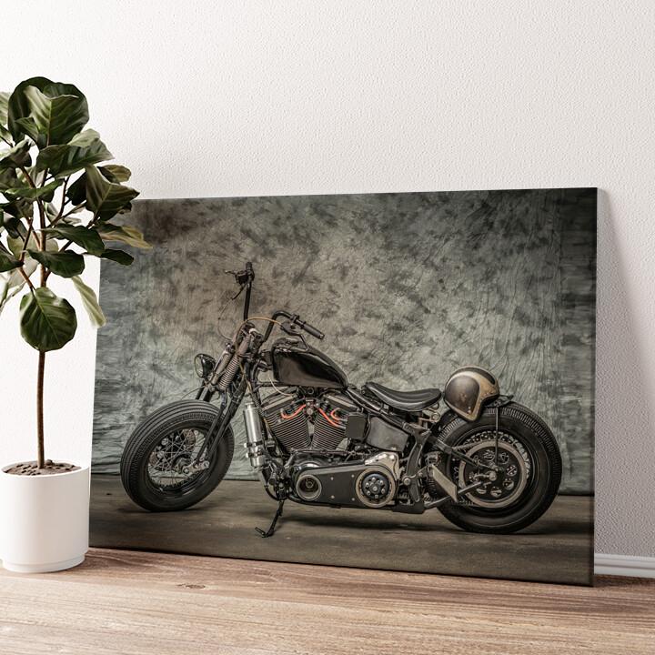 Chopper Bike Wandbild personalisiert