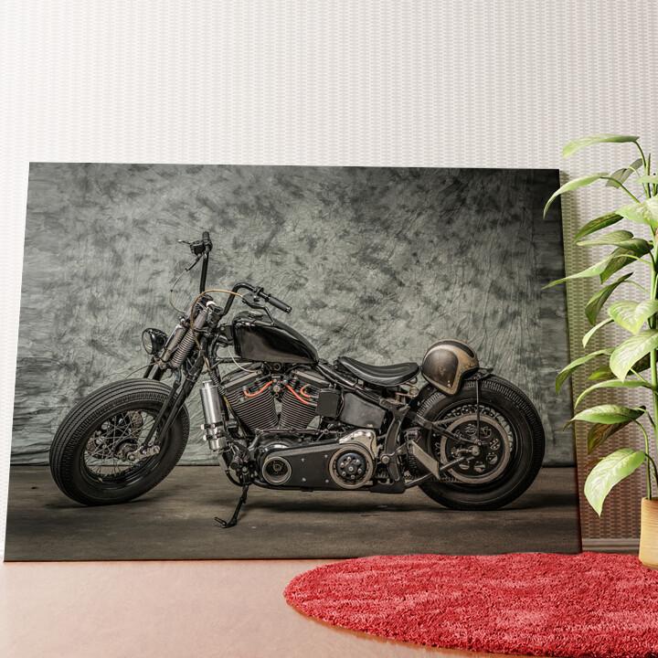 Personalisiertes Wandbild Chopper Bike