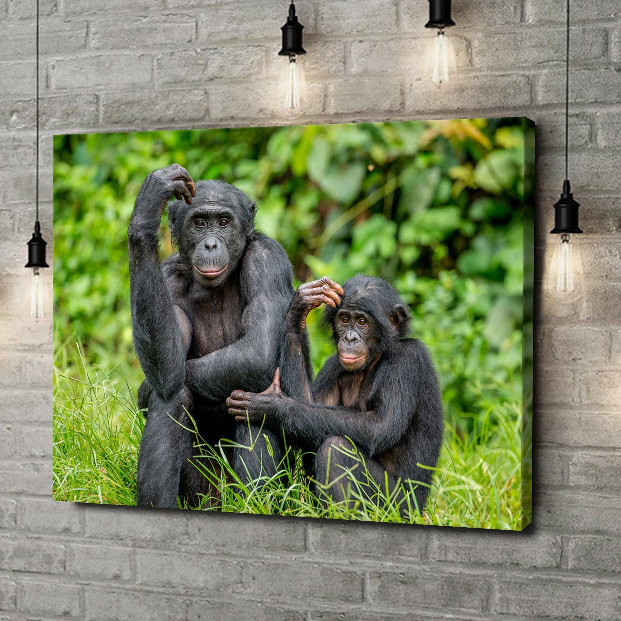 Leinwandbild personalisiert Bonobo im Kongo