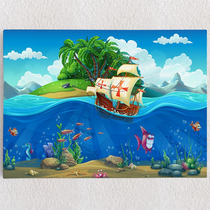 Personalisiertes Leinwandbild Cartoon Piraten