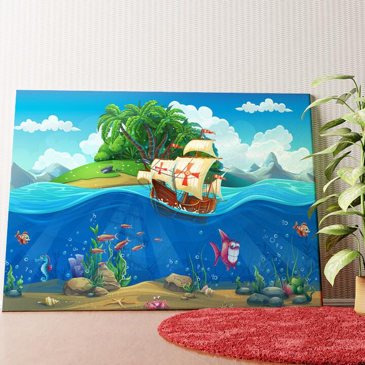 Personalisiertes Wandbild Cartoon Piraten
