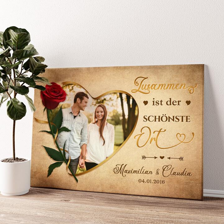 Liebestrunken Wandbild personalisiert